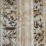 Detalle del astronauta en la fachada de Ramos de la catedral Nueva. SALAMANCA. Ciudad Patrimonio de la Humanidad, UNESCO. Castilla y León. España