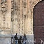 Fachada principal Portada de Ramos de la catedral Nueva. SALAMANCA. Ciudad Patrimonio de la Humanidad, UNESCO. Castilla y León. España