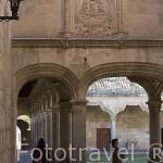 Soportales. Patio de las Escuelas Menores. SALAMANCA. Ciudad Patrimonio de la Humanidad, UNESCO. Castilla y León. España