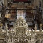 Interior del crucero y coro de la catedral Nueva. Por Joaquin y Alberto Churriguera, 1724. SALAMANCA. Ciudad Patrimonio de la Humanidad, UNESCO. Castilla y León. España