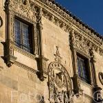 Fachada de la casa de las Muertes, (por sus calaveras), s.XVI, de estilo plateresco. SALAMANCA. Ciudad Patrimonio de la Humanidad, UNESCO. Castilla y León. España