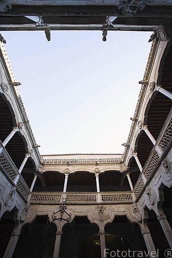 Patio interior de la Casa de las Conchas. SALAMANCA. Ciudad Patrimonio de la Humanidad, UNESCO. Castilla y León. España