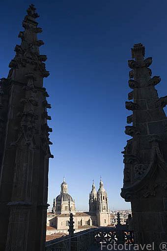 Vista de la ciudad de SALAMANCA desde la torre de la catedral Nueva. Ciudad Patrimonio de la Humanidad, UNESCO. Castilla y León. España