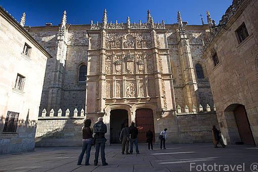 Fachada plateresca de la Universidad. Estilo Renacentista, 1218 por Alfonso IX y Alfonso X- El Sabio. SALAMANCA. Ciudad Patrimonio de la Humanidad, UNESCO. Castilla y León. España