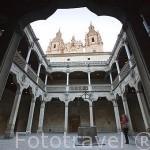 Patio interior. Casa de las Conchas, gótico con elementos platerescos,1493. SALAMANCA. Ciudad Patrimonio de la Humanidad, UNESCO. Castilla y León. España