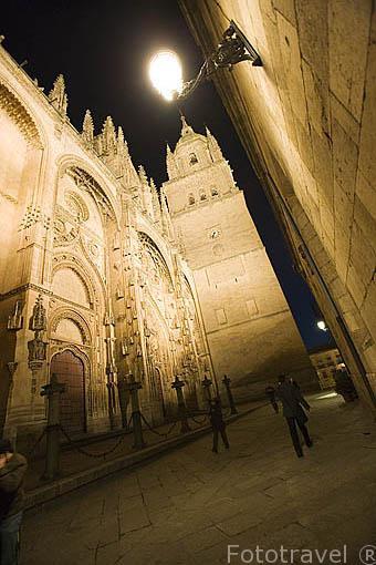 La portada del Nacimiento. Catedral Nueva. SALAMANCA. Ciudad Patrimonio de la Humanidad, UNESCO. Castilla y León. España