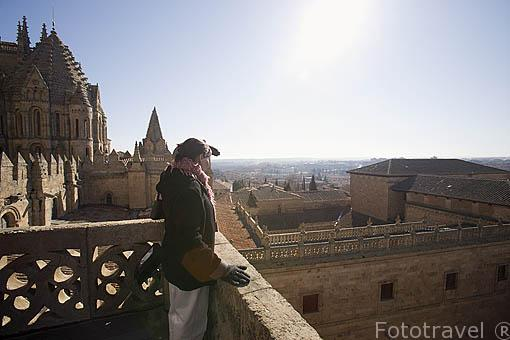 Vista sobre la catedral Vieja desde una de sus torres. Recorrido de Ieronimus. SALAMANCA. Ciudad Patrimonio de la Humanidad, UNESCO. Castilla y León. España