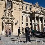 Fachada del colegio Anaya o de San Bartolomé. SALAMANCA. Ciudad Patrimonio de la Humanidad, UNESCO. Castilla y León. España