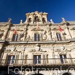 Fachada del Ayuntamiento. Plaza Mayor. SALAMANCA. Ciudad Patrimonio de la Humanidad, UNESCO. Castilla y León. España