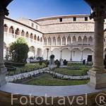 Claustro plateresco, s.XVI, del convento de las Dueñas, fundado en 1419 por Doña Juana Rodriguez Maldonado. SALAMANCA.Ciudad Patrimonio, UNESCO. Castilla y León. España