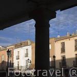 Soportales. Población de PEÑARANDA DE BRACAMONTE. Comarca de La Armuña. Provincia de Salamanca. España. Spain