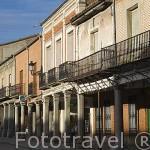 Soportales. Población de PEÑARANDA DE BRACAMONTE. Provincia de Salamanca. España. Spain