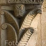 Decoración. Iglesia romanica, s.XII en ALMENARA DE TORMES. Comarca de la Armuña. Provincia de Salamanca. España. Spain