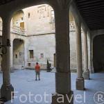 Patio interior. Castillo del Buen Amor, (hotel- posada), cerca de la población de TOPAS. Comarca de La Armuña. Provincia de Salamanca. España. Spain
