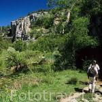 Senderistas. Parque Natural del Cañon del rio Lobos. SORIA. Castilla y León. España