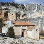 Ermita templaria de San Bartolome. Parque Natural del Cañón del rio Lobos. Soria. España