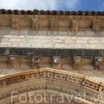 Detalle. Ermita templaria de San Bartolome. Parque Natural del Cañón del rio Lobos. Soria. España