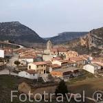 Pueblo de UCERO. A la entrada del Parque Natural del Cañon del rio Lobos. Soria. Castilla y Leon. España
