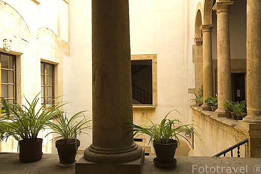 Patio del antiguo Ayuntamiento. TARRAGONA. Ciudad Patrimonio de la UNESCO. España