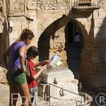 Escaleras en la plaza de la Seu. TARRAGONA. Ciudad Patrimonio de la UNESCO. España