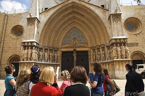 Fachada de la catedral . S.XII-XIV. TARRAGONA. Ciudad Patrimonio de la UNESCO. España