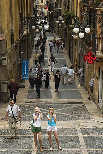 Calle Major. TARRAGONA. Ciudad Patrimonio de la UNESCO. España