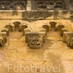 Canecillos con caras de animales. Interior del claustro de la catedral. s.XII-XIV.TARRAGONA. Ciudad Patrimonio de la UNESCO. España