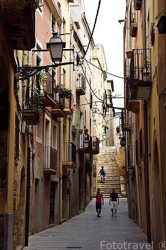 Calle/ Carrer d´en Mediona. TARRAGONA. Ciudad Patrimonio de la UNESCO. España