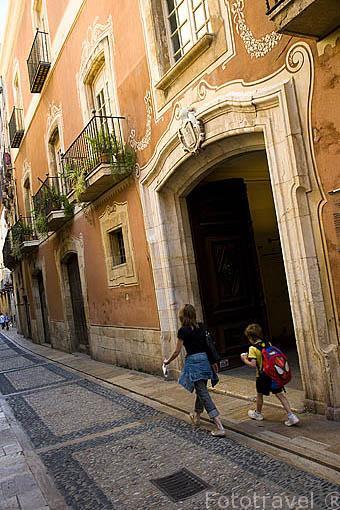 Calle y casa de Castellarnau, S.XV.TARRAGONA. Ciudad Patrimonio de la UNESCO. España