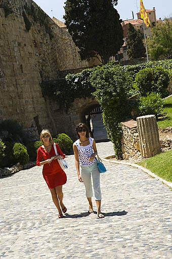 Paseo arqueologico y murallas romanas, s.III - II a.C. TARRAGONA. Ciudad Patrimonio de la UNESCO. España