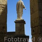 Escultura en el entrada al Pretorio romano. s.I.d.C. TARRAGONA. Ciudad Patrimonio de la UNESCO. España