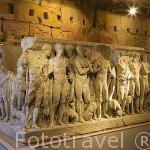 Sarcofago de Hipolito, s.III d.C. En sus costados se narra el mito del heroe. Forum Provincial. Ciudad Patrimonio de la UNESCO. España