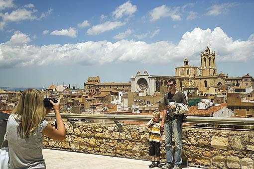 Vista de la ciudad desde el Pretorio Romano. TARRAGONA. Ciudad Patrimonio de la UNESCO. España