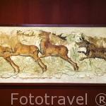 Pintura con escena de caza, s.II-III d.C Decoraba el corredor de una villa suburbana. Museo Nacional Arqueologico. Plaza del Rei. TARRAGONA. Ciudad Patrimonio de la UNESCO. España