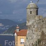 Vista desde el castillo de San Sebastian. Ciudad de VIGO. Galicia. España