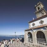 Ermita de Ntra. Sra. de las Nieves (1950 ) en el monte de la Guia. Ria de Vigo. VIGO. Galicia. España