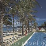Piscina para niños junto a la playa de Samil. Ria de VIGO. Galicia. España