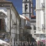 Plaza de la Constitución. Al fondo las torres de la colegiata de Santa Maria. Ciudad de VIGO. Galicia. España