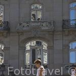 Edificio Simeón - Manuel Gómez Román (1911) En la Plaza Puerta del Sol. Ciudad de VIGO. Galicia. España