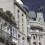 Edificios de arquitectura eclectica en la calle Policarpo Sanz. Ciudad de VIGO. Galicia. España