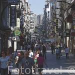 La calle peatonal y comercial Principe. Ciudad de VIGO. Galicia. España