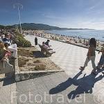 Paseo maritimo junto a la playa de Samil. VIGO. Galicia. España