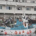 Barco pesquero atracado en el muelle. Ciudad de VIGO. Galicia. España