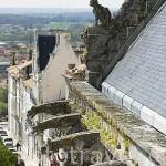 Gargolas en lo alto de la alcaldia (castillo estilo versallesco). Ciudad de ANGOULEME / ANGULEMA. Francia