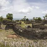 Ruinas de la antigua catedral. Restos de la erupción volcanica de la montaña Pelee en 1902. ST-PIERRE. Isla de MARTINICA. Francia. Caribe