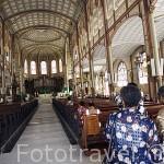 La catedral de la ciudad de Fort de France. Isla de MARTINICA. Caribe. Francia