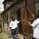 Edificio de la cocina, unico que queda del conjunto del Museo de la Pagerie. Zona de Les Trois Islets. Isla de MARTINICA. Caribe. Francia