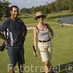 Jugadores. Campo de Golf de la Martinique. Zona de Les Trois Islets. Isla de MARTINICA. Caribe. Francia