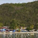 Playa de Grande Anse d´Arlet, al sur oeste. Isla de MARTINICA. Caribe. Francia