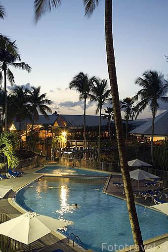 Hotel Carayou en la zona de Pointe du Bout. Sur Oeste de la isla de MARTINICA. Francia. Caribe